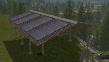 Мод навес SOLAR SHED V1.1.1 для Farming Simulator 2015