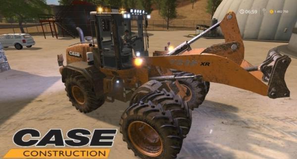 Мод погрузчик Case 721F XR v1.0 для Farming Simulator 2015