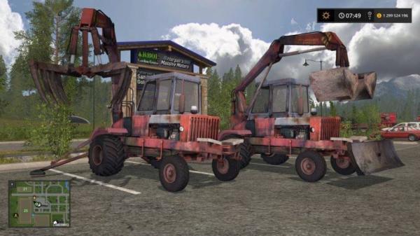Мод погрузчик ПЭА-1А Карпатец v 1.0 для Farming Simulator 2015