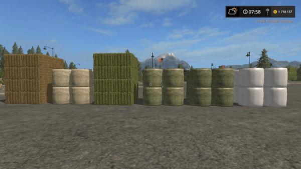 Мод покупаемые тюки BUY BALES V3.0 для Farming Simulator 2015