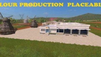 Мод производство FLOUR PRODUCTION PLACEABLE V1.0 для Farming Simulator 2015