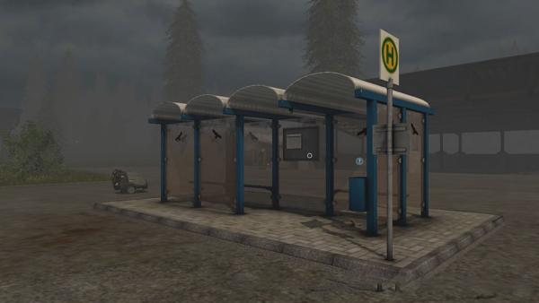 Мод Bus Station v1.0.1 для Farming Simulator 2015