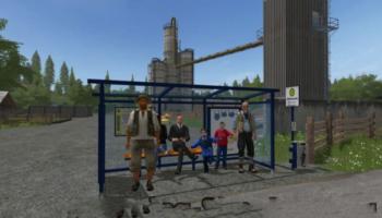 Мод Bus Stops V1.0 для Farming Simulator 2015