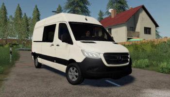 Мод автобус Mercedes-Benz Sprinter VS30 v0.9 для Farming Simulator 2015