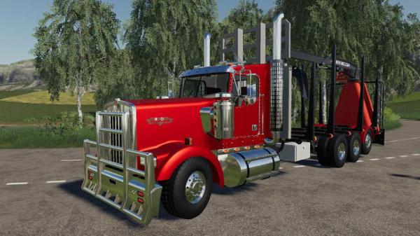 Мод грузовик D3 Kenworth W900 Rear Mounted v1.0.0.2 для Farming Simulator 2015