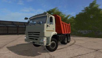 Мод грузовик КАМАЗ-65115 V1.1 для Farming Simulator 2015