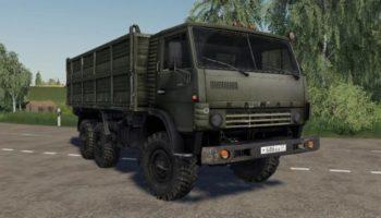 Мод грузовик Камаз 4310 и прицеп v2.0 для Farming Simulator 2015