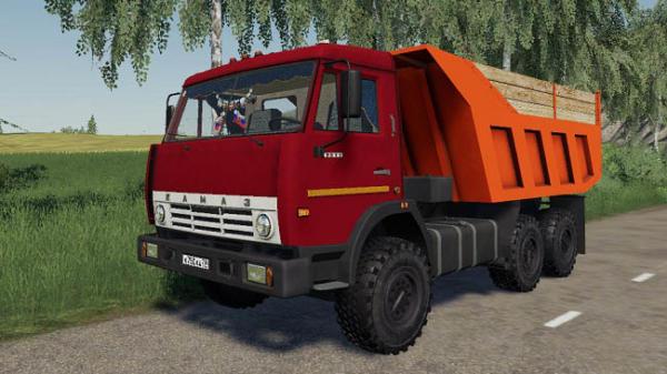 Мод грузовик Камаз 55111 Совок + Прицеп v1.0 для Farming Simulator 2015