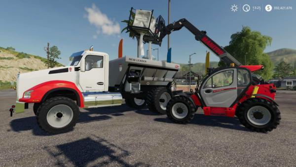 Мод грузовик Kenworth T880 Spreader v2.0 для Farming Simulator 2015