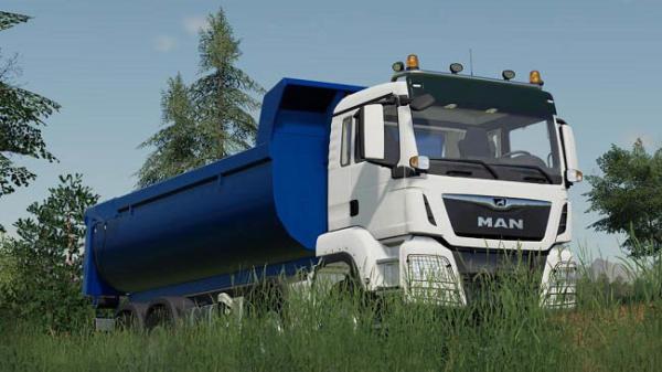 Мод грузовик MAN TGS 41.500 8×8 Hooklift v1.0 для Farming Simulator 2015