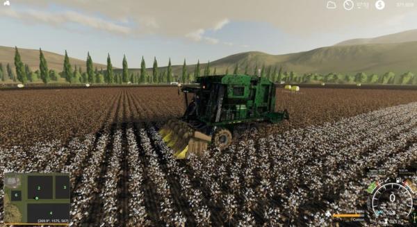 Мод комбайн John Deere 7760 Cotton Baler v1.1 для Farming Simulator 2015