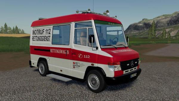 Мод скорая Mercedes-Benz Vario RTW v1.0 для Farming Simulator 2015