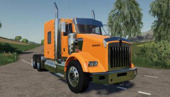 Мод тягач Kenworth T800 v1.2 для Farming Simulator 2015