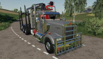 Мод грузовик D3 Kenworth W900 Cab Mount v1.0.0.3 для Farming Simulator 2015
