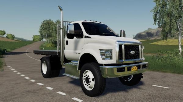 Мод грузовик Ford F750 Flatbed v1.0 для Farming Simulator 2015