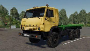 Мод грузовик КамАЗ-4310 Flat v1.2 для Farming Simulator 2015