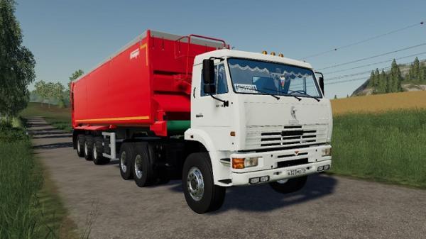 Мод грузовик Камаз 65116 v1.0 для Farming Simulator 2015