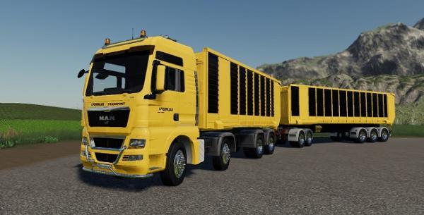 Мод грузовик MAN Cat TGX v1.0 для Farming Simulator 2015