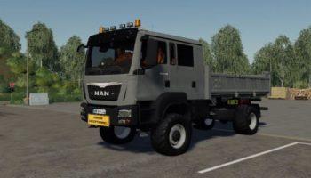 Мод грузовик Man TGM 41480 4×4 Meiller Kipper v1.0 для Farming Simulator 2015