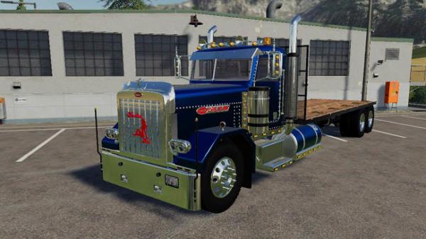 Мод грузовик Peterbilt Flatbed v1.0 для Farming Simulator 2015