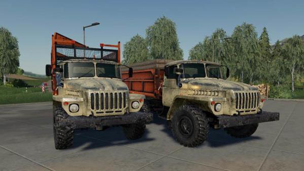 Мод грузовик Урал Сельхозник v1.0 для Farming Simulator 2015