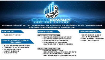 Мод скрипт Global Company v1.0 для Farming Simulator 2015