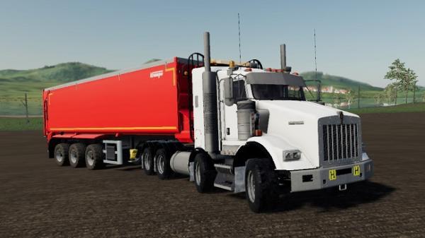 Мод тягач Kenworth T800B TwinSteer v1.0 для Farming Simulator 2015