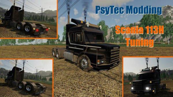 Мод тягач Scania 113H Tuning v1.1.5.1 для Farming Simulator 2015