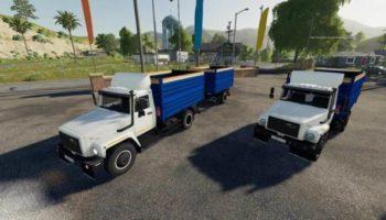 Мод грузовик ГАЗ-35071 И САЗ-83173 V 1.2 для Farming Simulator 2015
