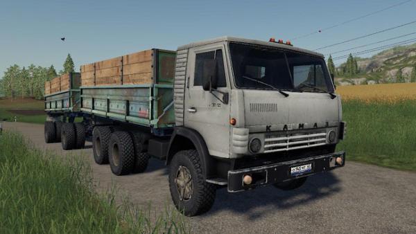 Мод грузовик КамАЗ 5320 и прицеп ГБК-8551 v2.1.0 для Farming Simulator 2015