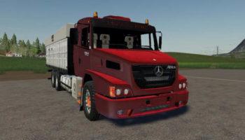 Мод грузовик Mercedes Benz ATRON 2429K Graneleiro v1.0 для Farming Simulator 2015