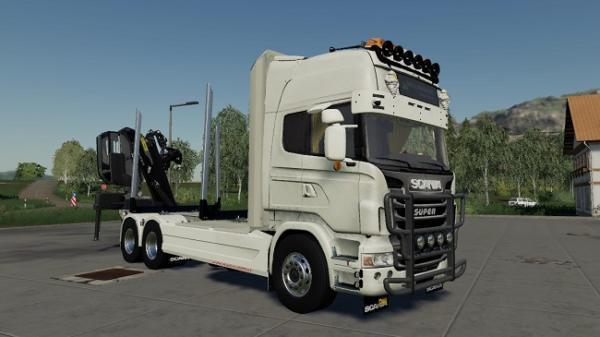 Мод лесовоз Scania R730 Log Truck v1.0 для Farming Simulator 2015