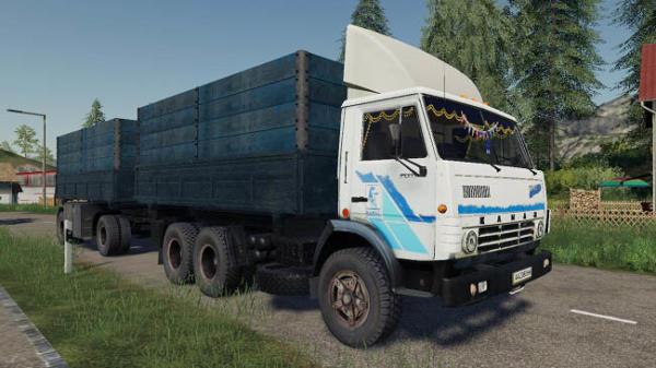 Мод ПАК КамАЗ-5320 и Нефаз-8560 v1.1 для Farming Simulator 2015