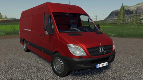 Мод авто Mercedes Sprinter v1.0 для Farming Simulator 2015