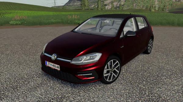 Мод авто Volkswagen Golf 2017 v1.0 для Farming Simulator 2015