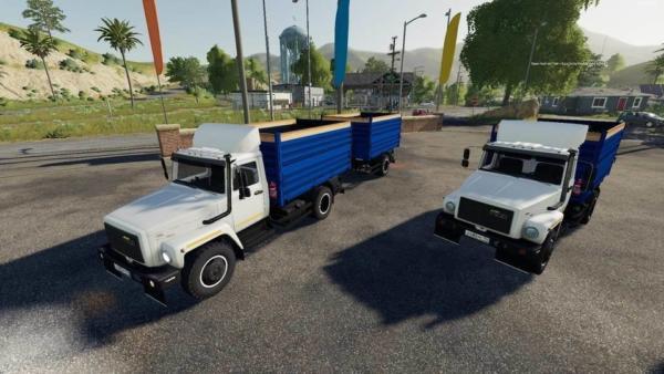 Мод грузовик ГАЗ-35071 И САЗ-83173 V 1.2.1 для Farming Simulator 2015