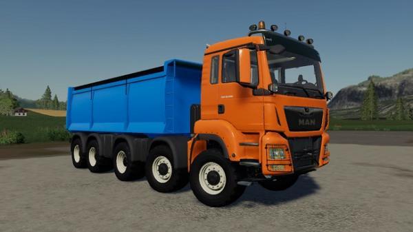 Мод грузовик MAN TGS 18.500 Kipper v1.0.2.0 для Farming Simulator 2015