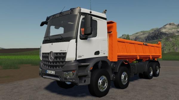 Мод грузовик Mercedes-Benz Arocs 8X4 v1.0 для Farming Simulator 2015