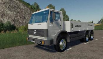 Мод грузовик Mercedes Benz SK 1632 Flatbad v1.0 для Farming Simulator 2015