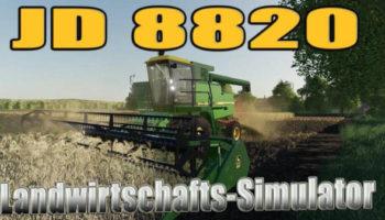 Мод комбайн John Deere 8820 v1.0.0.0 для Farming Simulator 2015