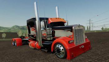 Мод тягач Custom Peterbuilt StreetReaper v1.0 для Farming Simulator 2015