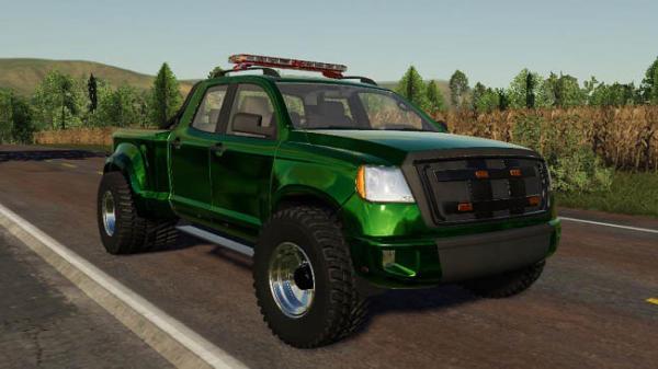 Мод 2014 Pickup with semi-trailer and autoload v1.2 для Farming Simulator 2015