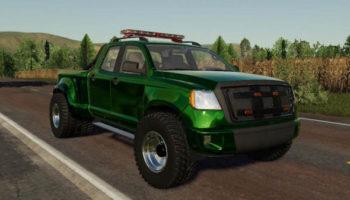 Мод 2014 Pickup with semi-trailer and autoload v1.4 для Farming Simulator 2015