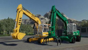 Мод ПАК Excavator Liebherr 902 Pack v1.0.0.0 для Farming Simulator 2015