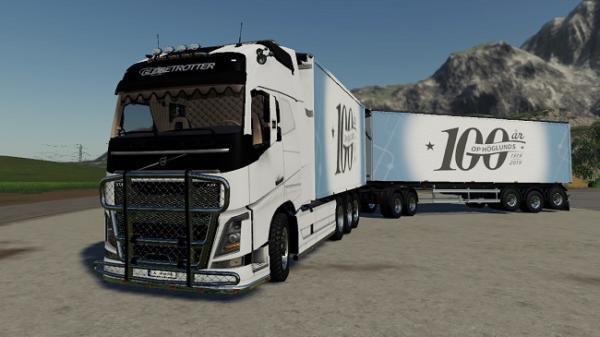 Мод ПАК Volvo Fh16 Woodchip and Trailer v1.4 для Farming Simulator 2015