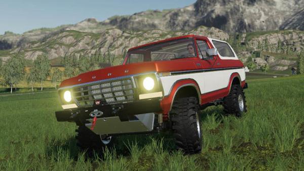 Мод авто Ford Bronco Custom 1978 v1.0 для Farming Simulator 2015