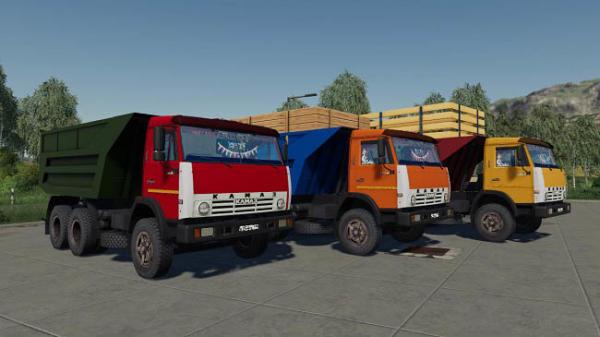Мод грузовик КамАЗ-55111 Совок v1.3.1a для Farming Simulator 2015