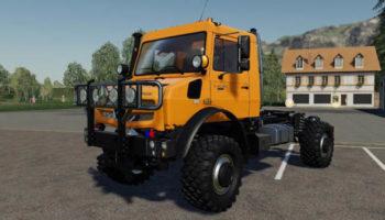 Мод грузовик Mercedes-Benz Unimog U5023 – U5030 v1.0.0.1 для Farming Simulator 2015
