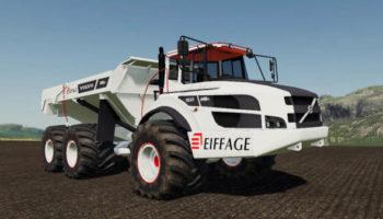 Мод грузовик Volvo A40G White Eiffage v1.5 для Farming Simulator 2015