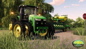 Мод трактор John Deere 8R US Series 2018 v3.5 для Farming Simulator 2015